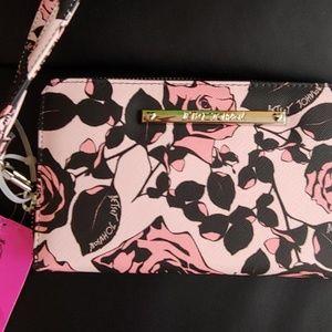 New beautiful Betsy Johnson wallet/wristlets